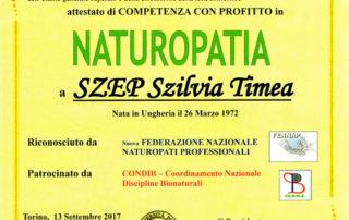Attestato Naturopatia