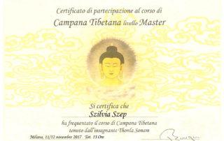 Campana Tibetana livello Master
